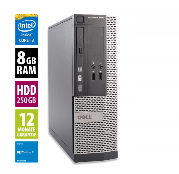 Dell OptiPlex 3020 SFF - Core i3-4160 @ 3,6GHz - 8GB RAM - 250GB HDD - Win10Home