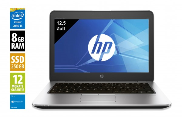HP Elitebook 820 G3 - 12,5 Zoll - Core i5-6300U @ 2,4 GHz - 8GB RAM - 256 GB SSD - FHD (1920x1080) - Win10 Home