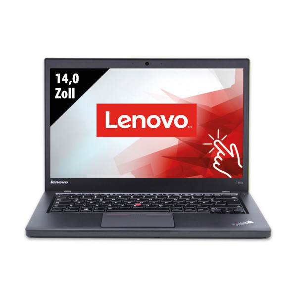 Lenovo Thinkpad T440s - 14 Zoll - Core i5-4300U @ 1,9 GHz - 8GB RAM - 180GB SSD - FHD (1920x1080) - Touch - Webcam - Win10Home B
