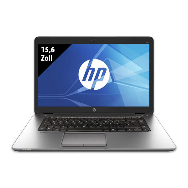 HP Elitebook 850 G2 - 15,6 Zoll - Core i5-5300U @ 2,3 GHz - 8GB RAM - 512GB SSD - WXGA (1366x768) - Webcam - Win10Home B