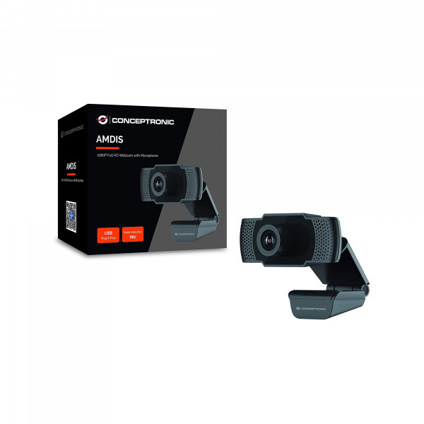 Conceptronic AMDIS01B - 1080p Full-HD Webcam mit Mikrofon