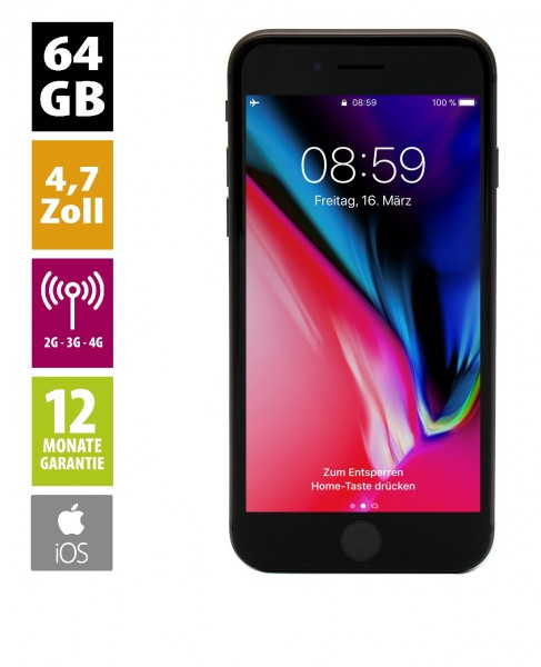 Apple iPhone 8 (64GB) - Space Gray