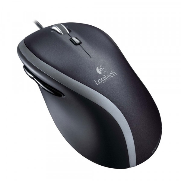 Logitech Advanced Corded M500s - BLACK - EMEA - Maus - Optisch