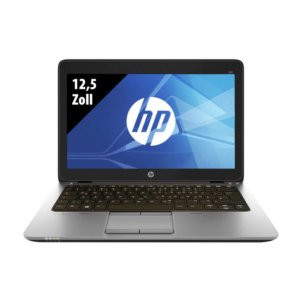 HP Elitebook 820 G3 - 12,5 Zoll - Core i7-6600U @ 2,6 GHz - 8GB RAM - 256GB SSD - FHD (1920x1080) - Win10Home B