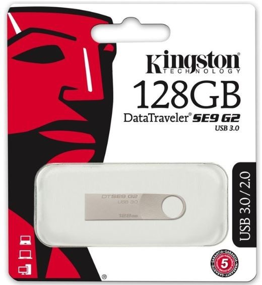 Kingston - 128GB USB-Stick - Datatraveler SE9 G2 - USB 3.0