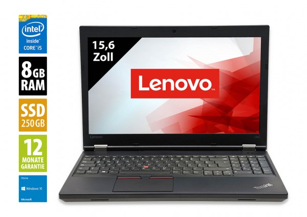 Lenovo ThinkPad L560 - 15,6 Zoll - Core i5-6300U @ 2,4 GHz - 8GB RAM - 250GB SSD - FHD (1920x1080) - Webcam - Win10Home