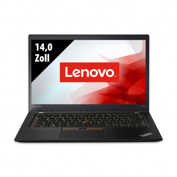 Lenovo ThinkPad T470s - 14,0 Zoll - Core i5-6300U @ 2,4 GHz - 8GB RAM - 256GB SSD - FHD (1920x1080) - Webcam - Touch - Win10Pro B