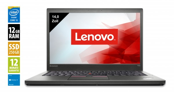 Lenovo ThinkPad T450s - 14 Zoll - Core i5-5300U @ 2,3 GHz - 12GB RAM - 240GB SSD - FHD (1920x1080) - Win10Home