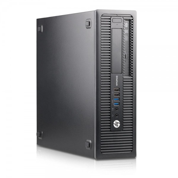 HP EliteDesk 800 G1 SFF - Core i5-4570 @ 3,2 GHz - 8GB RAM - 180GB SSD - Win10Home