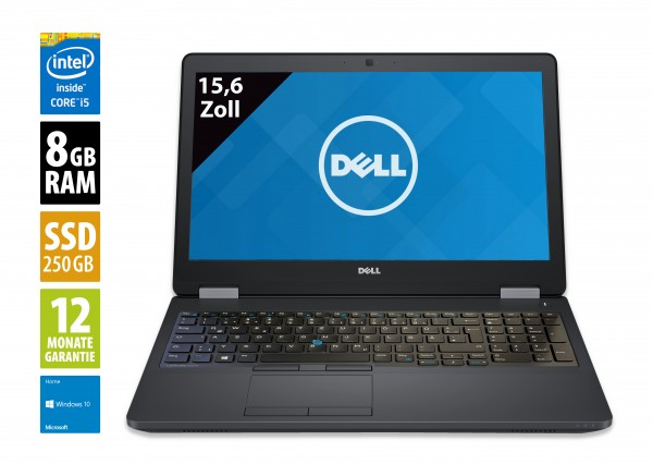 Dell Latitude E5570 - 15,6 Zoll - Core i5-6300U @ 2,4 GHz - 8GB RAM - 256GB SSD - FHD (1920x1080) - Win10Home