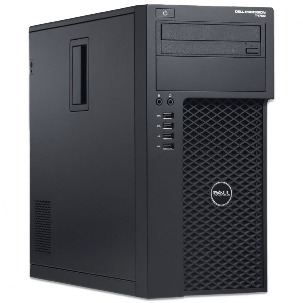 Dell Precision T1700 MT - Xeon E3-1226 v3 @ 3.3 GHz - 16GB RAM - 500GB HDD - DVD-RW - Nvidia Quadro K2200 - Win10Pro