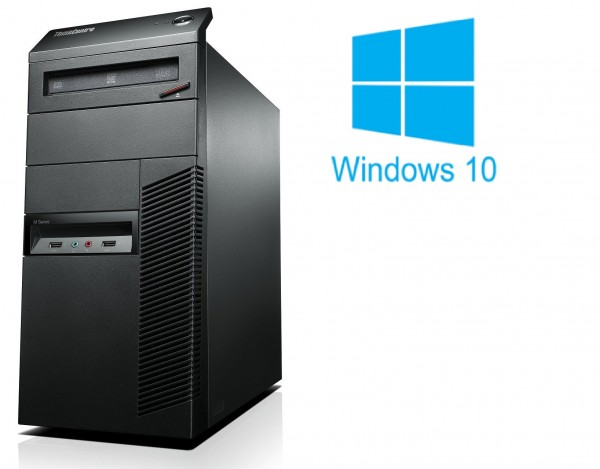 Lenovo Thinkcentre M91p - Core i5-2400 @ 3,1 GHz - 8GB RAM - 250GB HDD - DVD-ROM - Win10 Home