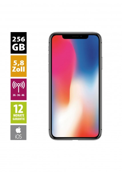 Apple iPhone X (256GB) - Space Gray