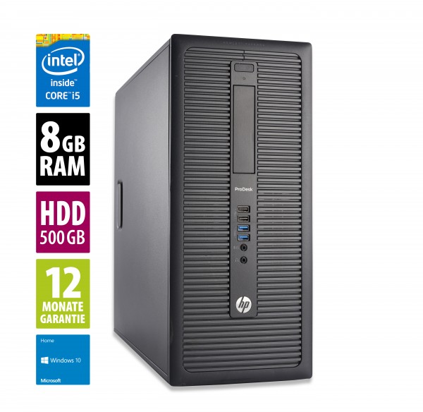 HP ProDesk 600 G1 MT - Core i5-4570 @ 3,2 GHz - 8GB RAM - 500GB HDD - Win10Home