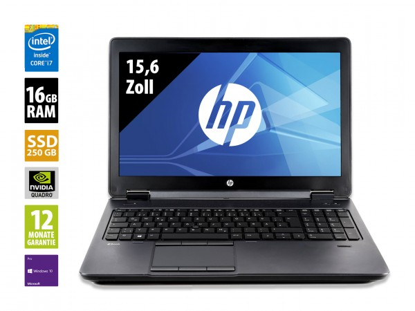 HP ZBook 15 G2 - 15,6 Zoll - Core i7-4810MQ CPU @ 2,8 GHz - 16GB RAM - 256 GB SSD - FHD (1920x1080) - Win10Pro